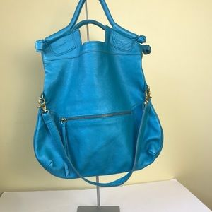 Foley Corinna LADY Leather Tote Convertible bag Lg